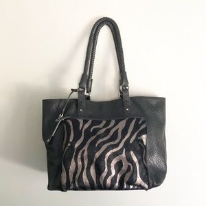 Cole Haan Leather and Animal Print Tote